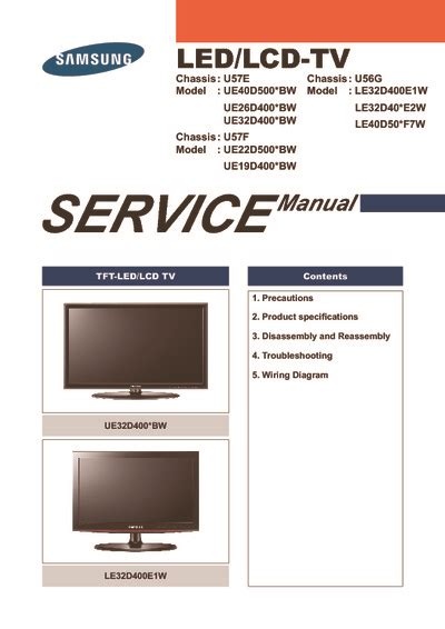 samsung ued led ledlcd tv service manual repair schematics