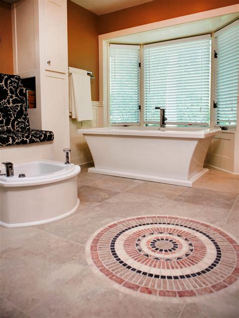 diy bathroom tile floor beautiful bathroom floors from diy network diy