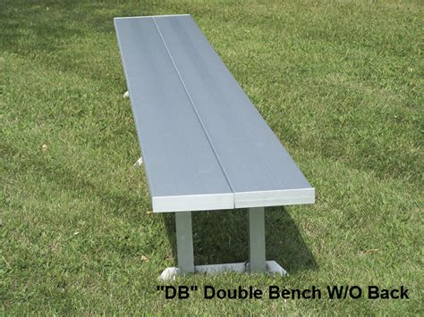 aluminium bench seats benches with aluminum legs national recreation systems