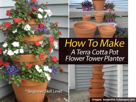 terra cotta planters how to make a terra cotta pot flower tower planter with