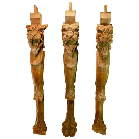 highly decorative carved wooden table legs with s