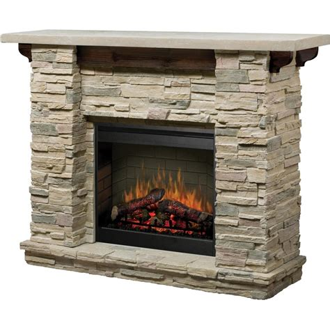 rock fireplace dimplex featherston 61 inch electric fireplace ledge