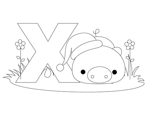 Letter X Coloring Pages Preschool by Free Printable Alphabet Coloring Pages For Best