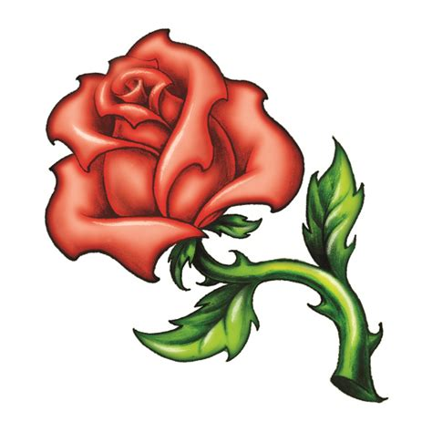 rose amp leaves tattooforaweek temporary tattoos largest