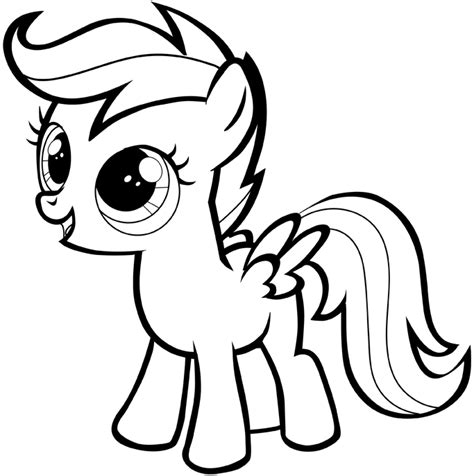 easy pony coloring pages how to draw scootaloo from my little pony with easy step