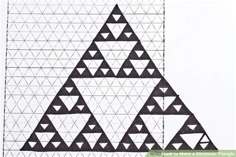 triangle pattern maker how to make a sierpinski triangle 8 steps with pictures