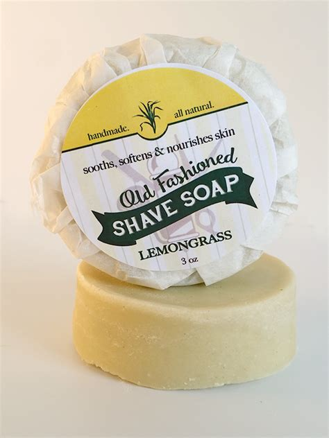 Country Soap Co lemongrass fashioned shave soap 3oz amish country