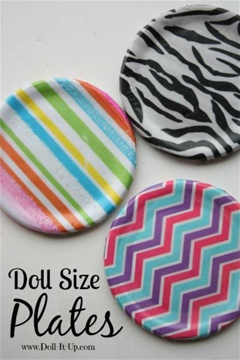 How To Make Paper Plate Doll - doll size plates made with tissue paper canning lids and