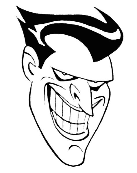 joker face coloring pages batman and joker coloring pages getcoloringpages com