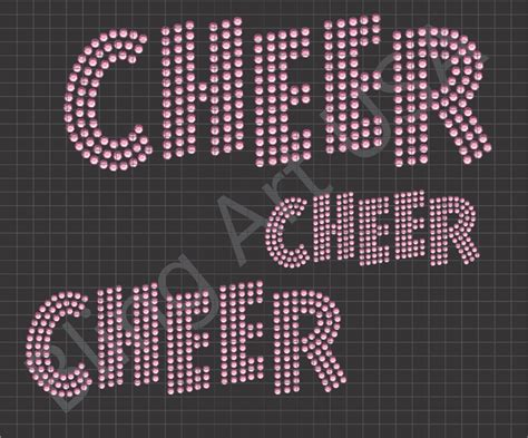 cheer rhinestone downloads files cheer logo templates