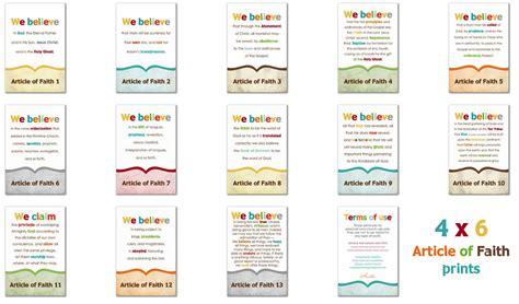 printable articles of faith simply fresh designs lds prints articles of faith