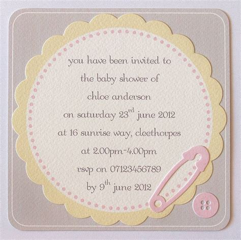 Handmade Baby Shower Invitations - handmade personalised baby shower invitations by thoughts