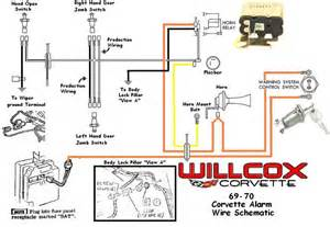 1969 1970 corvette corvette wire schematic alarm system willcox corvette inc