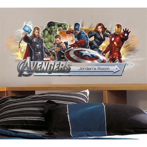 marvel s the avengers wall sticker decals for kids room the avengers giant wall stickers choose from 9 styles