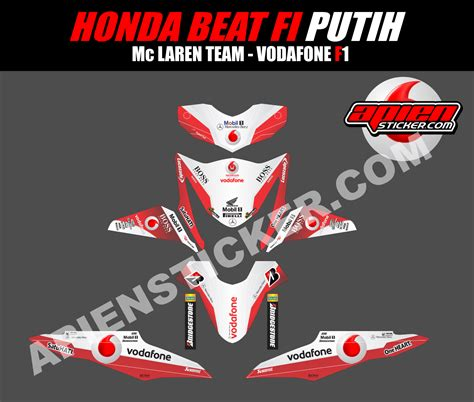 Sticker All New Beat Esp Striping Thailook Kumpulan Modif Honda Beat Esp Merah Putih Terlengkap