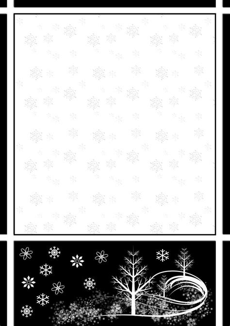 Winter 1 A4 Theme Free Digital Stationery Winter Stationery Template