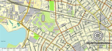 road map boston usa boston printable vector map 25 part atlas