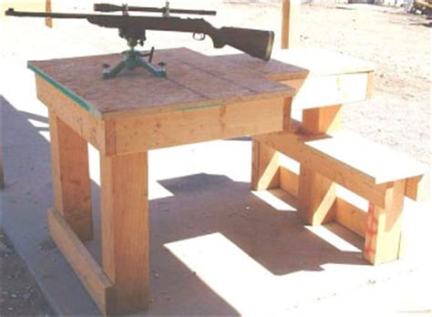 Portable Shooting Bench Free Shooting Bench Plans Fourteen Do It Yourself