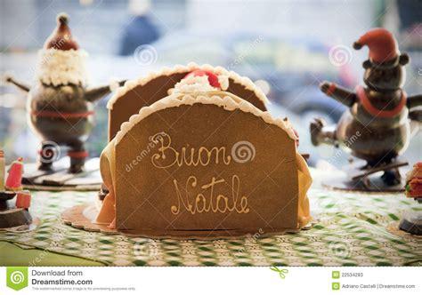 merry in italian merry in italian language buon natale stock