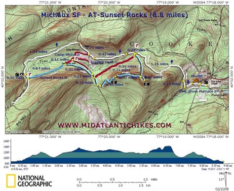 appalachian trail section distances 4 25 15 appalachian trail section hike sunset rocks