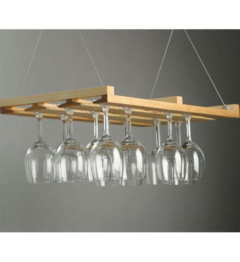 hanging stemware rack in wine glass racks