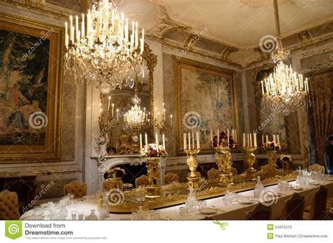 stately home interior interior grand dining room stock photo image 54315313