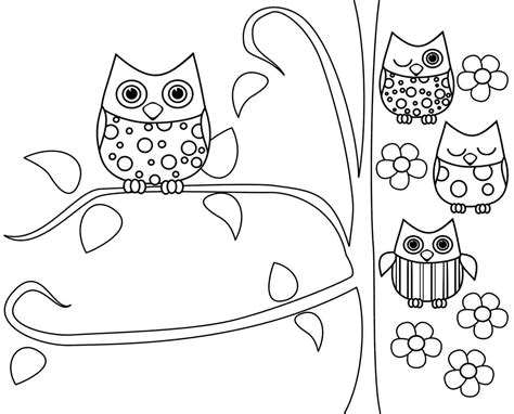 free printable owl coloring pages free coloring pages of owl pictures