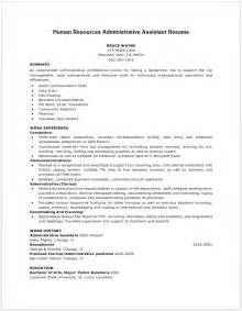 hr administrative assistant resume sle free hr assistant resume resumecompanion 28 images