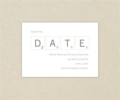 Scrabble Wedding Invitations