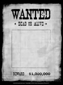Printable Kwl Chart Blank Wanted Poster Template Make Your Own Wanted Poster