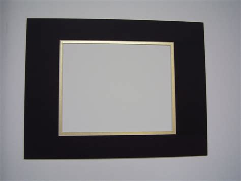 Mats For Framing Pictures by Picture Framing Mat Black With Gold Liner 12x16 For 8x10 Photo