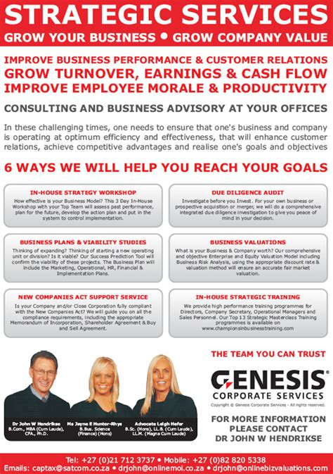 genesys financial planning chions in business cc