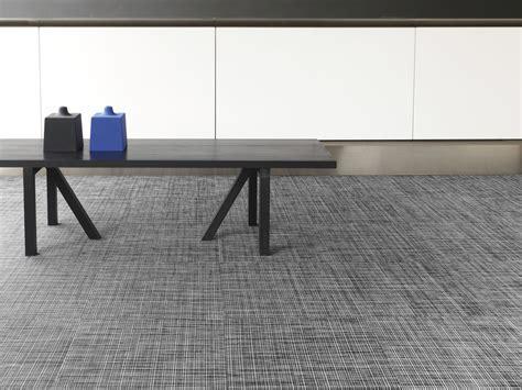 Flooring: Dark Wood Bench With Gray Floor Carpet Tiles