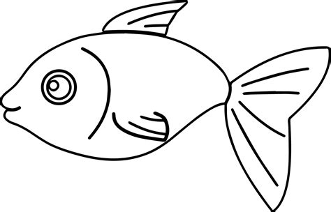 a jolly grayscale coloring book books basic fish coloring page sheet wecoloringpage