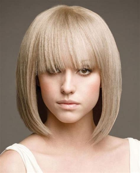 medium blunt hairstyles with bangs women s medium haircuts with bangs 2018
