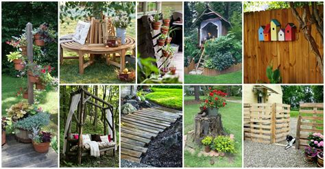 10 Items For Your Yard And Patio This Summer by 15 Awesome Diy Wooden Decoration For Your Garden