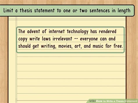 thesis statement the best way to write a thesis statement with exles