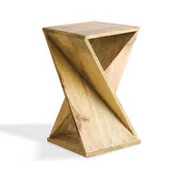 Wood End Tables Origami Geometric Solid Wood End Table Cool Design