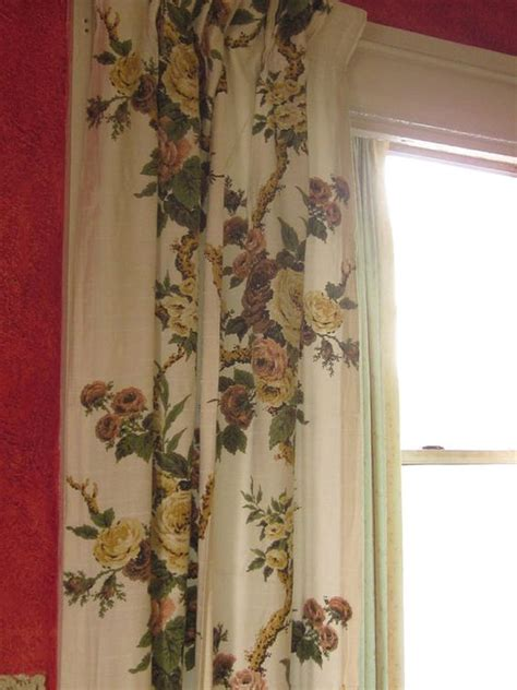 1940s curtains vintage 1940s floral slinky curtains floral curtains