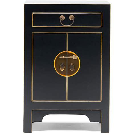 black style storage cabinet bedside table