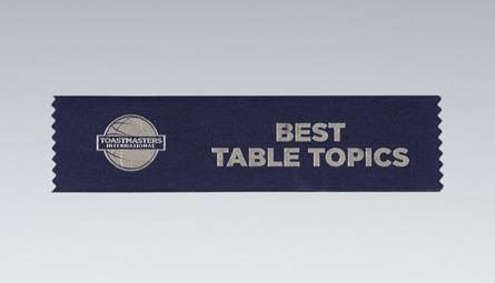 toastmasters table topics best table topics 174 ribbon set of 10