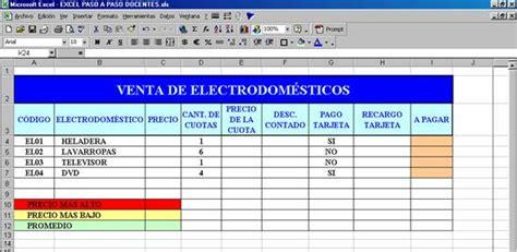 planilla de excel para previsiones de pagos cd 6 colecci 243 n educ ar