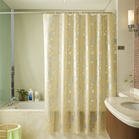 Luxury Shower Curtains Luxury Gold Shower Curtain Of Leaf Patterns