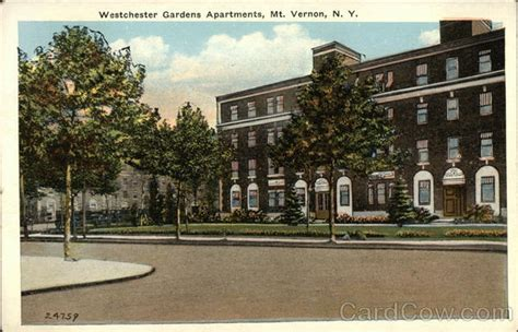 Garden Apartments Westchester Ny Westchester Gardens Apartments Mount Vernon Ny Postcard