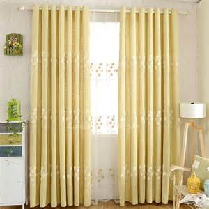 Yellow Patterned Curtains Exquisite Embroidered Floral Pattern Yellow Bedroom Curtains
