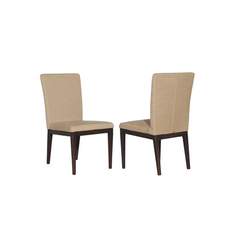 Outdoor Dining Chairs Lowes Shop Allen Roth Set Of 2 Dellinger Brown Cushioned Seat