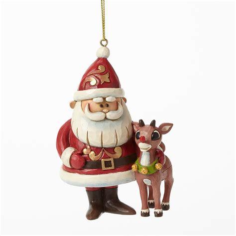 santas reindeer ornament jim shore heartwood creek 4041650 santa and rudolph