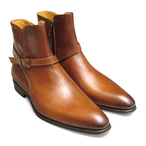 Handmade Leather Boots Uk - handmade jodhpurs boot brown genuine leather boot