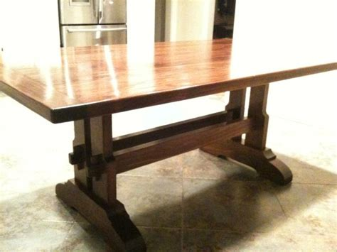 craftsman style trestle table finewoodworking