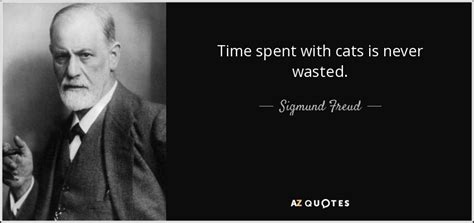 sigmund freud quotes sigmund freud quote time spent with cats is never wasted